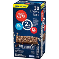 Fiber One Chewy Bars Oats & Chocolate 36- 1.4 Oz Bars (Pack of 2)