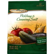 Mrs. Wages Pickling & Canning Salt, Non-Iodized, (48 Ounces), 3 Lbs