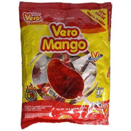 Vero Mango, Chili Covered Mango Flavored Lollipops, 40 Pieces
