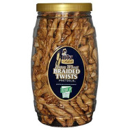 Utz Honey Wheat Braided Twist Pretzels, 26 oz Barrel
