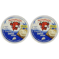 The Laughing Cow, Spreadable Cheese Wedges, 6oz Round (Pack of 4) (Choose Flavor Below) (Creamy Original Swiss)