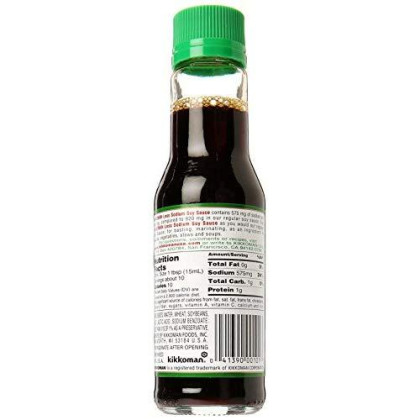 Kikkoman Less Sodium Soy Sauce 10 oz