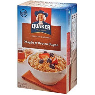 Quaker Instant Oatmeal Maple Brown Sugar 10 pk