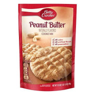 Betty Crocker Baking Mix, Peanut Butter Cookie Mix, 17.5 oz Pouch (Pack of 12)