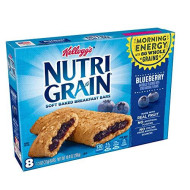 Kellogg's Nutri-Grain, Soft Baked Breakfast Bars, Blueberry, Made with Whole Grain, 10.4oz (Pack of 6)