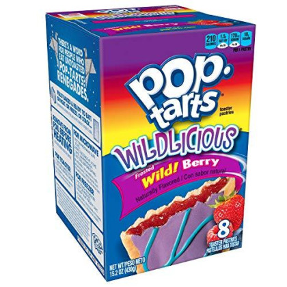 Pop-Tarts Breakfast Toaster Pastries, Wildlicious Frosted Wild Berry Flavored, Bulk Size, 96 Count (Pack of 12, 15.2 oz Boxes)