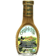 Organicville Olive Oil and Balsamic Salad Dressing, 8-Ounce Glass Bottles (Pack of 6(