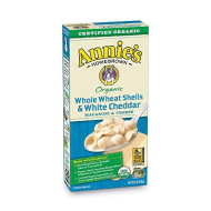 Annie's Organic Whole Wheat Shells & White Cheddar Macaroni & Cheese,12 Boxes, 6 oz (Pack of 12)