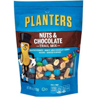 Planters Trail Mix Nuts & Chocolate M&M's, 6 oz Bag (Pack of 12)