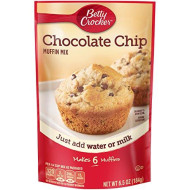 Betty Crocker Chocolate Chip Muffin Mix, 6.5 oz Pouch (Pack of 24)