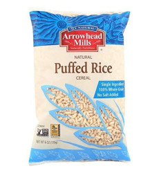 Arrowhead Mills Cereal, Puffed Rice, 6 Oz. Bag (Pack Of 12)
