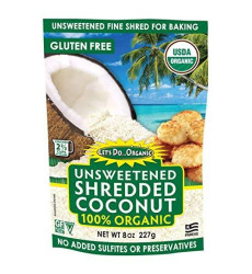 Let's Do Organic Shredded, Unsweetened Coconut, 8-Ounce Packages (Pack of 12)