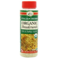 Edward & Sons Organic Breadcrumbs, Italian Herbs, 15-Ounce Container (Pack Of 6)