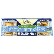 Edward & Sons Edward & Sons Brown Rice Snaps, Unsalted Plain With Organic Brown Rice, 3.5 Ounce Packs (Pack Of 12)