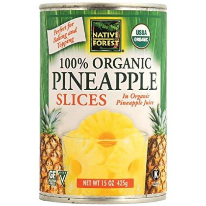 Native Forest Organic Pineapple Slices, 15-Ounce Cans (Pack of 6)