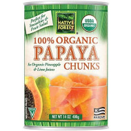 Native Forest Organic Papaya Chunks, 14-Ounce Cans (Pack of 6)