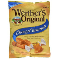 Werther'S Original Chewy Caramels, Bulk Candy, Individually Wrapped Candy, Soft Caramel Candy, 5.0 Ounce Bags (Pack Of 12)