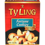 Ty Ling Fortune Cookies, 3.5-Ounce Box (Pack of 12)