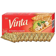 Vinta Crackers, Original Delicious Bold Taste of 8 Grains and Seeds No Artificial Flavors, No Cholesterol, Peanut Free - Delicious Plain or Topped, 8.8-ounce. (Pack of 12