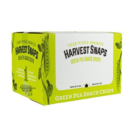 Harvest Snaps Green Pea Snack Crisps, Lightly Salted, 3.3-Ounce Bag (Pack of 12), Deliciously baked and crunchy veggie snacks with plant protein and fiber