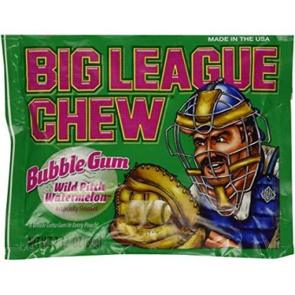 Big League Chew, Wild Pitch Watermelon Bubble Gum, 2.12-Ounce Pouches (Pack Of 12)