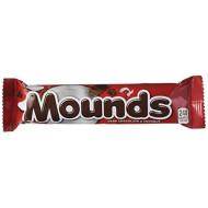 Mounds Dark Chocolate And Coconut Candy Bar, Halloween Candy, 1.75 Ounce (Pack Of 36)