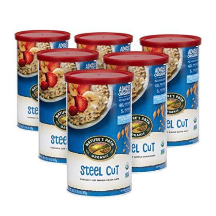 Nature's Path Steel Cut Oatmeal, Healthy, Organic & Sugar Free, 1 Canister, 30 Ounces (Pack of 6)