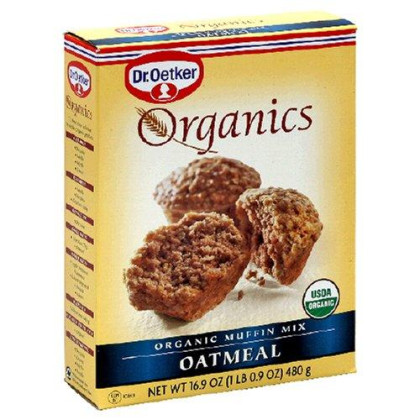 Dr. Oetker Organics Muffin Mix, Oatmeal, 16.9-Ounce Boxes (Pack of 12)