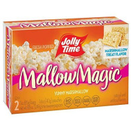 JOLLY TIME Mallow Magic   Sweet Marshmallow Microwave Popcorn with Candy Coated Sugar Topping for an Easy Gourmet Treat (2-Count Box, Pack of 12)