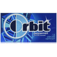 Wrigley'S Orbit Peppermint Sugar Free Gum - 12 Packs Of 14 Pieces