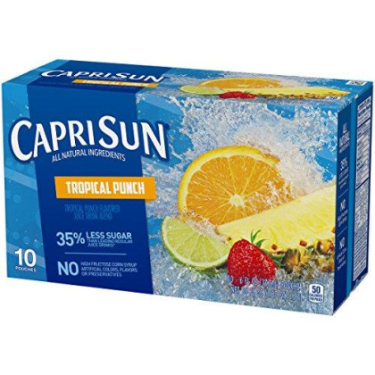 Capri Sun Tropical Punch Juice Drink (6 Oz Pouches, 10 Count)