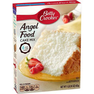 Betty Crocker Baking Mix, Super Moist Fat Free Cake Mix, Angel Food, 16 Oz Box