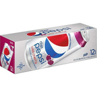 Pepsi Diet Wild Cherry Soda, 12 Ounce (12 Cans)