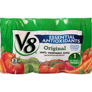 V8 Original Essential Antioxidants 100% Vegetable Juice, 5.5 Oz. Can, 6 Count