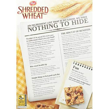 Post Shredded Wheat Cereal The Original Spoon Size, 16.4 Oz