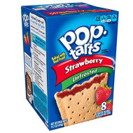 Pop-Tarts Breakfast Toaster Pastries, Unfrosted Strawberry Flavored, 14.7 oz (8 Count)