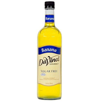 Davinci Sugar Free Banana Syrup W/ Splenda 750 Ml