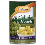 Roland Artichoke Hearts (8/10 Count), 13.75-Ounce Tins (Pack Of 12)