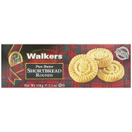 Walkers Pure Butter Shortbread, Rounds, 5.3 Oz