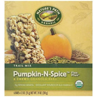 Nature's Path, Organic Granola Bars, Pumpkin & Spice, 6 ct, 1.2 oz each