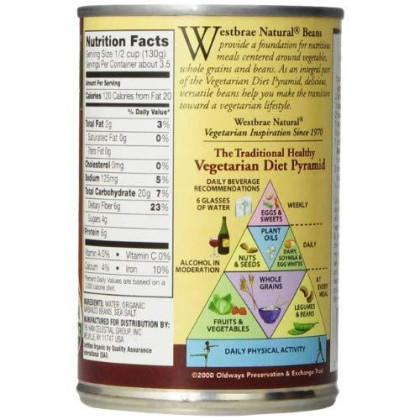 Westbrae Natural, Vegetarian Organic Garbanzo Beans, 15 oz