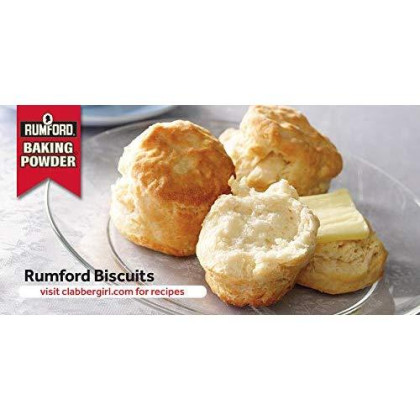 Rumford Baking Powder 4 oz, NON-GMO, Gluten Free, Vegan, Vegetarian, Double Acting Baking Powder in a Resealable Can with Easy Measure Lid, Kosher, Halal