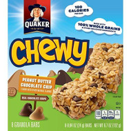 Quaker Chewy Peanut Butter Chocolate Chip Granola Bars, 8 ct.84 oz each