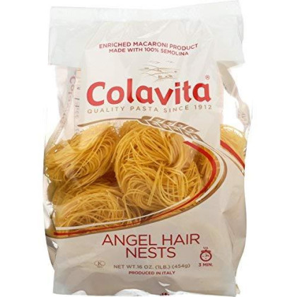 Colavita Capellini Nest(Angel Hair Pasta), 16-Ounce Boxes (Pack of 10)