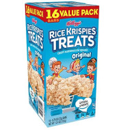 Kellogg's Rice Krispies Treats, Crispy Marshmallow Squares, Original, Bulk Size, 96 Count (Pack of 6, 12.4 oz Boxes)