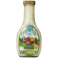 Organicville Non-Dairy Ranch Dressing; 8 oz; Bottled Creaminess Certified Organic, Non-GMO, Gluten-Free, Dairy Free; Versatile, Clean and Delicious; Classic Taste with Natural Ingredients