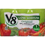 V8 100% Vegetable Juice, Original Low Sodium, 5.5 Ounce, 6 Count