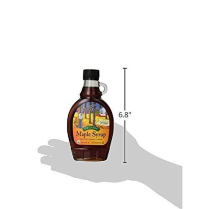 Coombs Family Farms Maple Syrup, Organic Grade A, Dark Color, Robust Taste, 8 Fl Oz