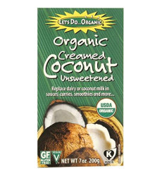 Let's Do Organic Creamed Coconut, 7-Ounce Boxes (Pack of 6)