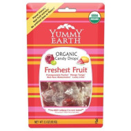 Yummy Earth Organic Freshest Fruit Drops - Pack Of 6